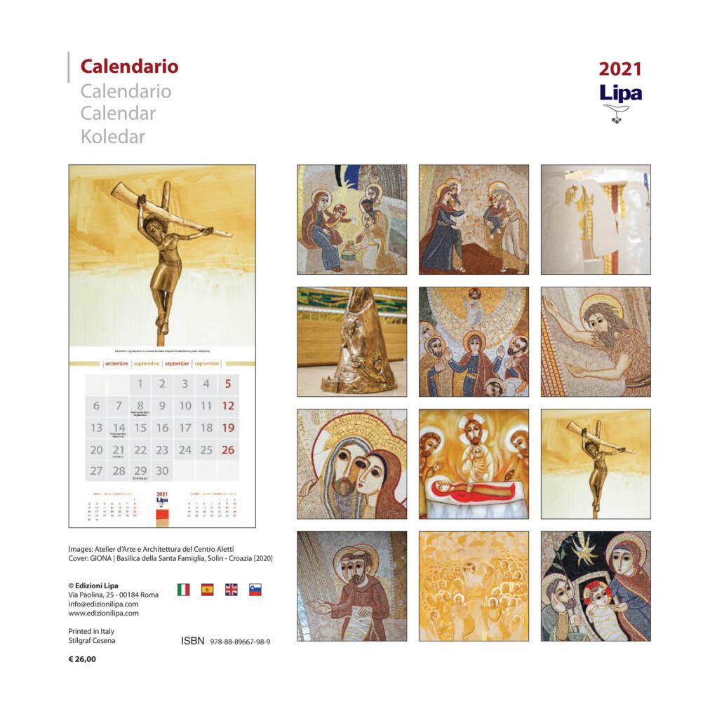 Calendario Feste Liturgiche 2021 LIPA] CALENDARIO 2021 con le immagini delle opere del Centro